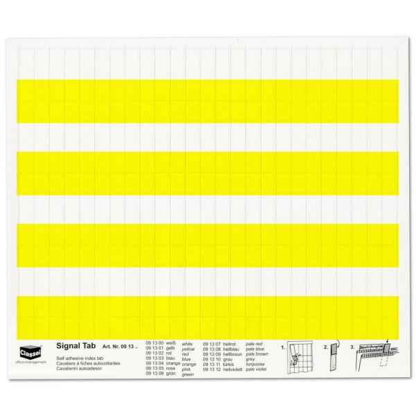 Signal-Tabs gelb