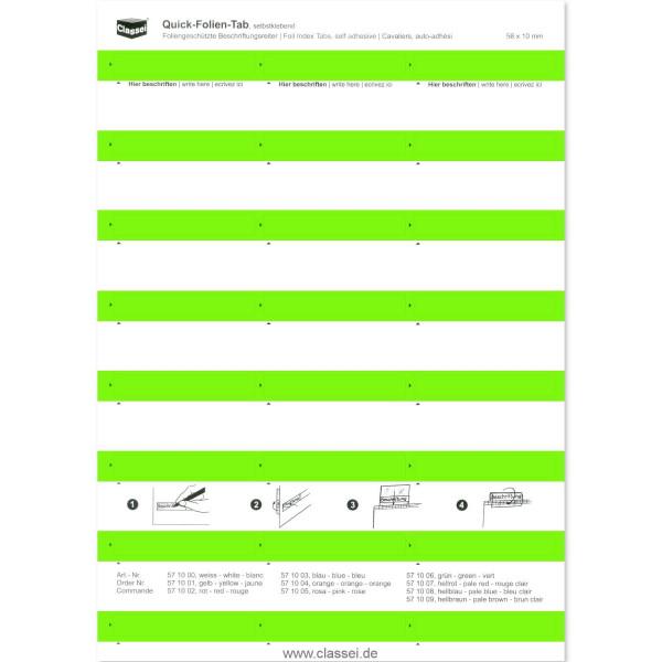 Folien-Tabs grün