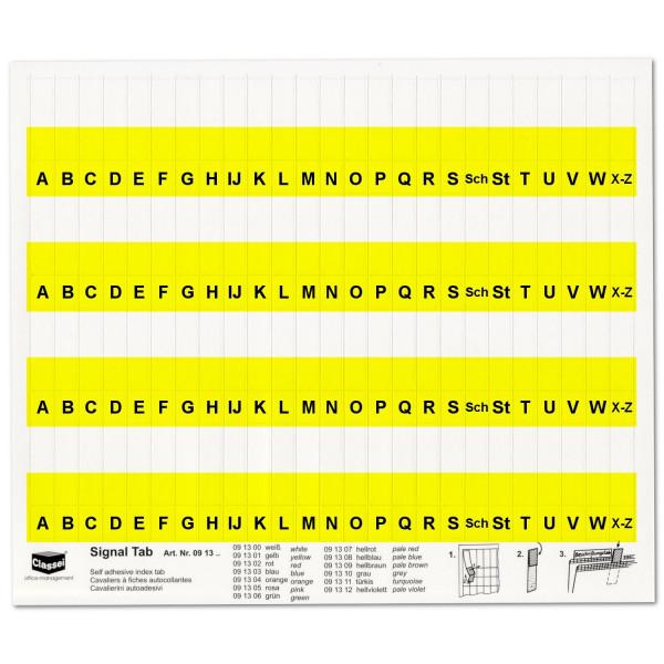 Alpha-Tabs 10mm gelb, A-Z