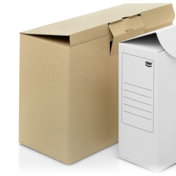 Archivboxen braun