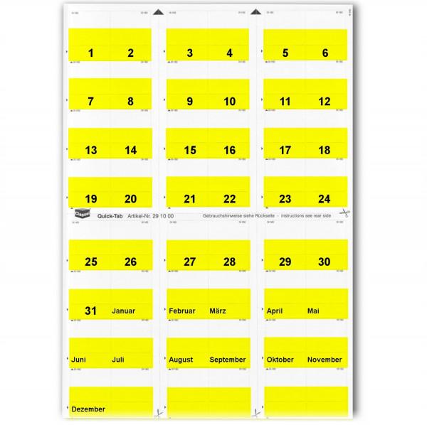 Daten-Tabs gelb 1-31/Jan.-Dez.
