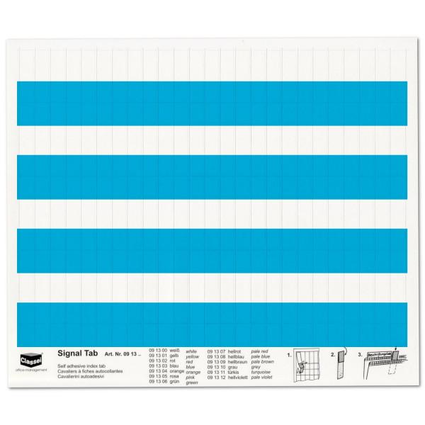 Signal-Tabs blau