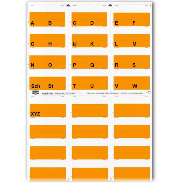 Alpha-Tabs orange A-Z