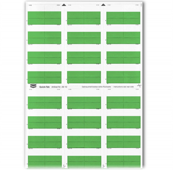 Quick-Tabs dunkelgrün