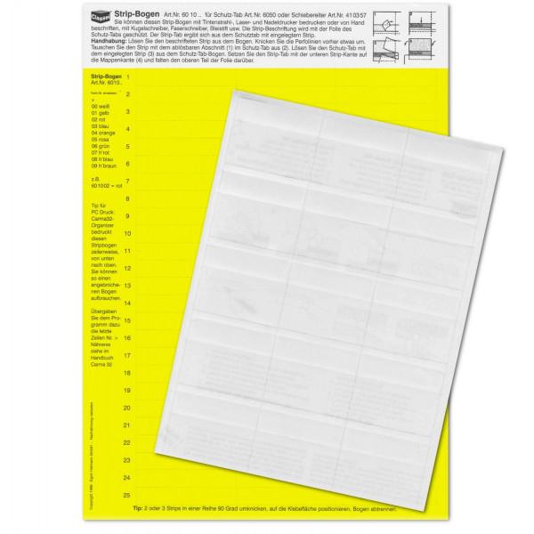 Strip-Tabs-Pck. gelb 10x57,5mm