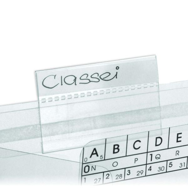 Schiebereiter, glasklar, 10 x 57 mm