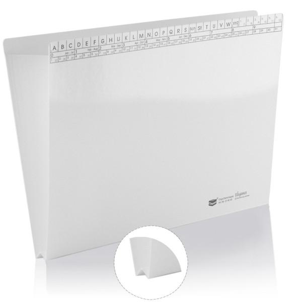 Orga-Dehnmappen Elegance, weiß, 250g