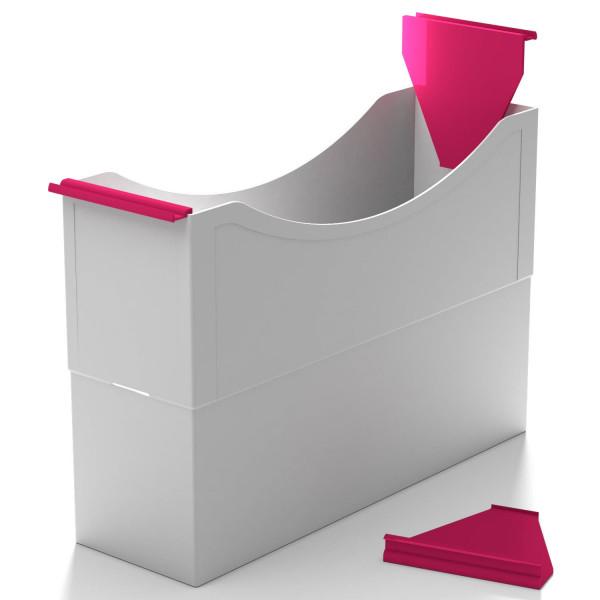 Hängeleisten magenta red f. Kst. Box