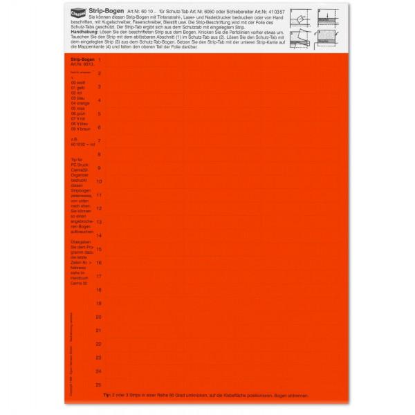 Strip-Tabs rot 10 x 57,5 mm