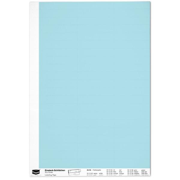 Einsteckschildchen 15 x 70 mm, hellblau