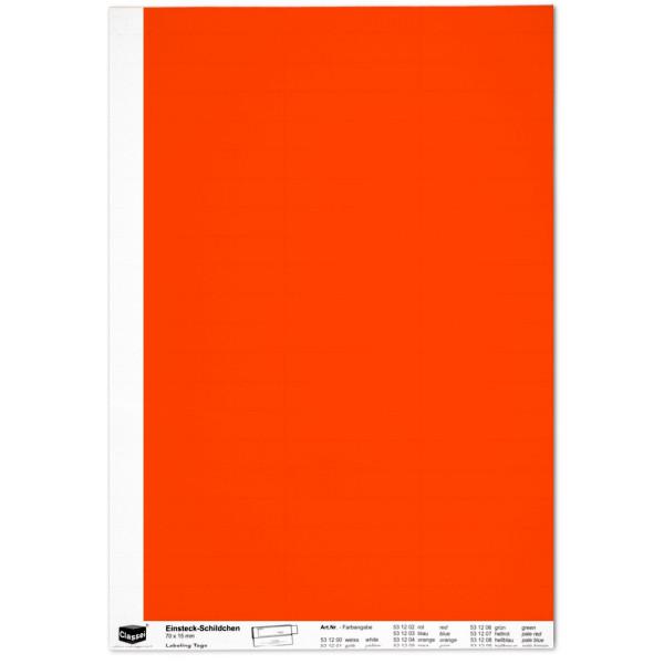 Einsteckschildchen 15 x 70 mm, rot