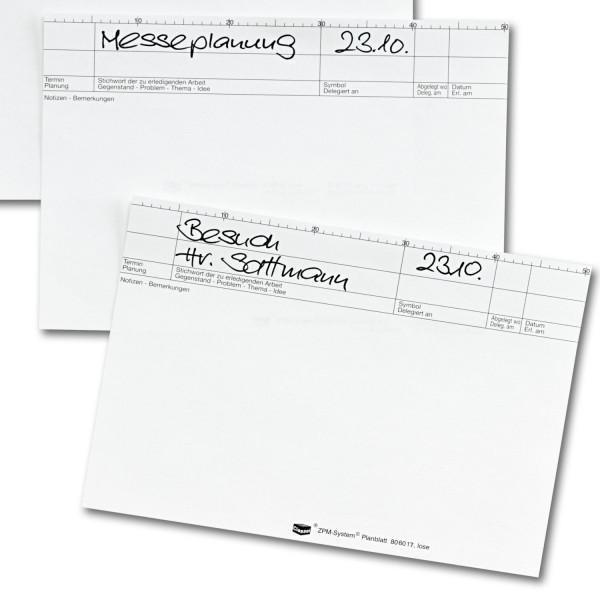 Plankarten, ws, 170 g/qm, (Pck./50 Stück)