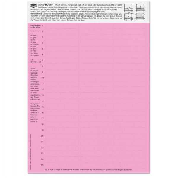 Strip-Tabs rosa 10 x 57,5 mm