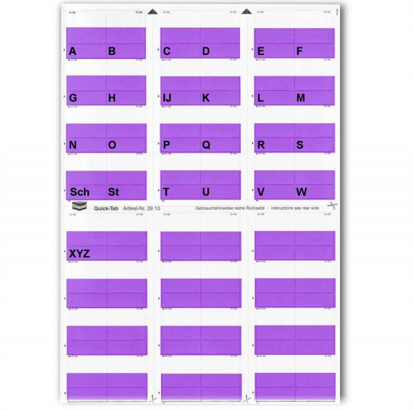 Alpha-Tabs violett A-Z