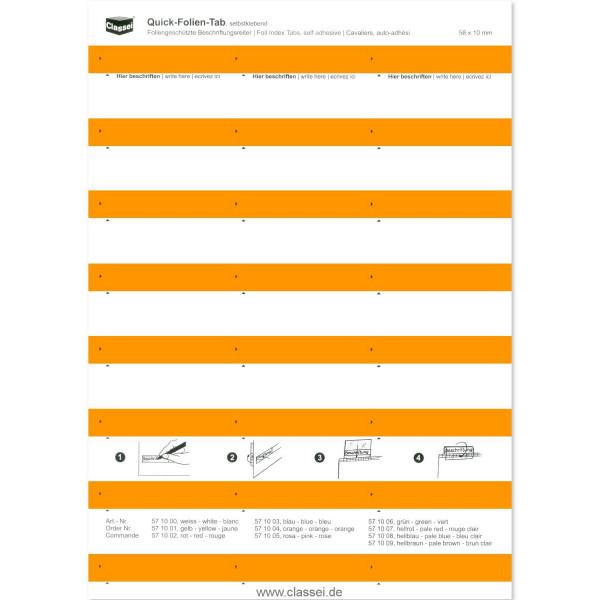 Folien-Tabs orange