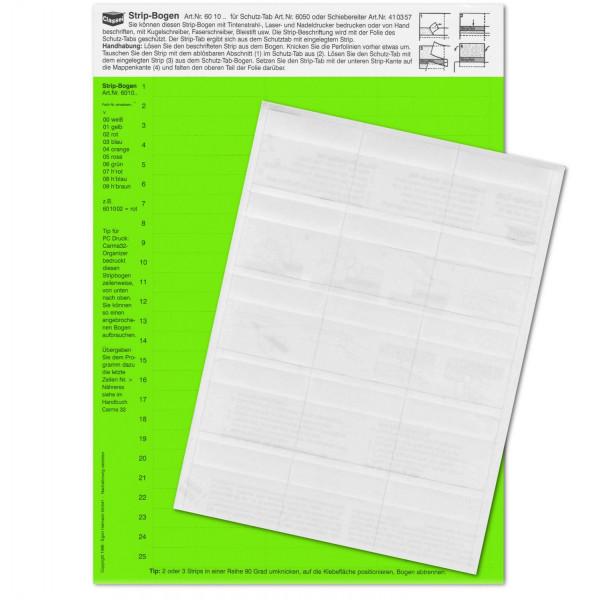 Strip-Tabs-Pck. grün 10x57,5mm