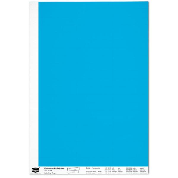 Einsteckschildchen 15 x 70 mm, blau