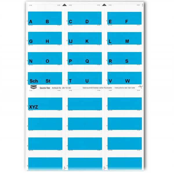 291003A Alpha-Tabs blau A-Z