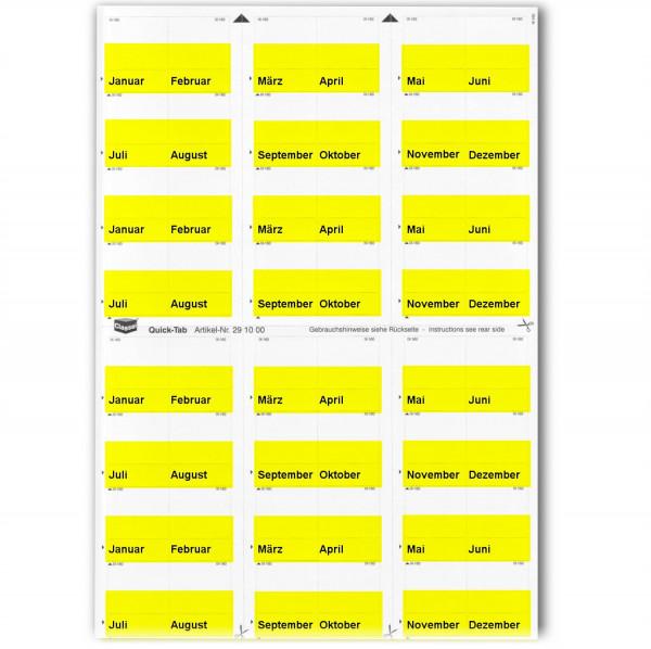Monats-Tabs gelb (Januar-Dezember)