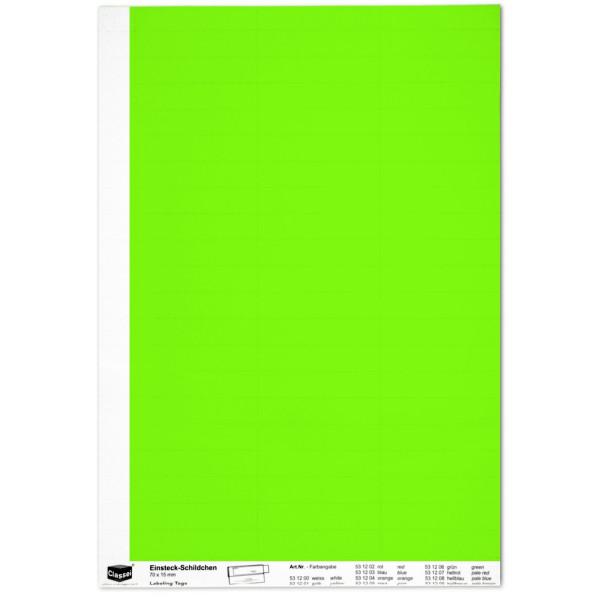 Einsteckschildchen 15 x 70 mm, grün