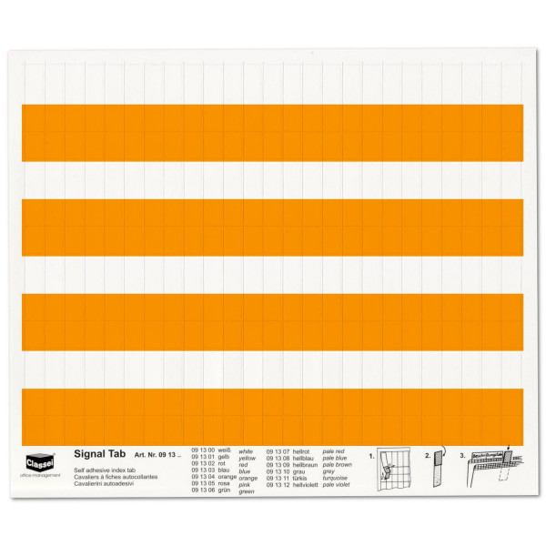 Signal-Tabs orange
