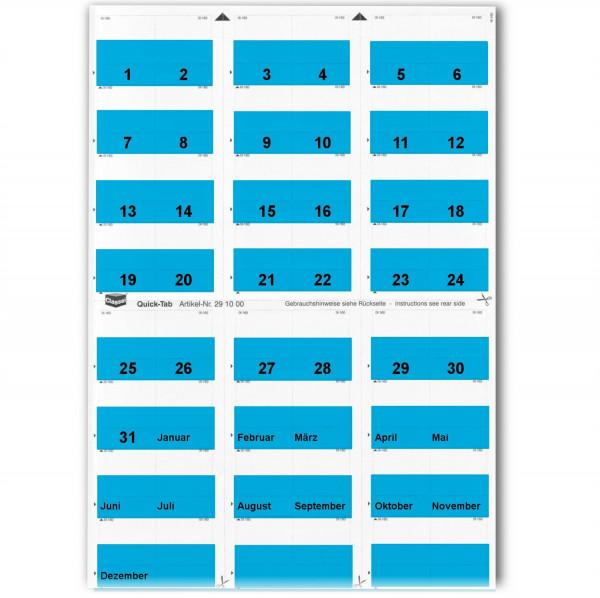 Daten-Tabs blau 1-31/Jan.-Dez.