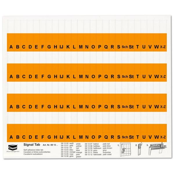 Alpha-Tabs 10mm orange, A-Z