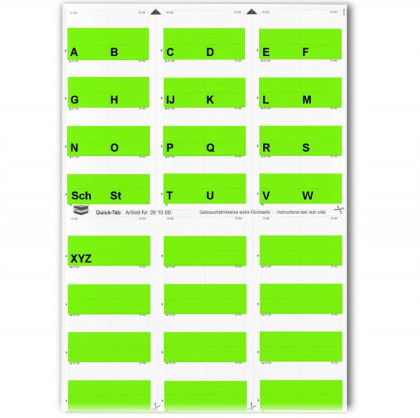Alpha-Tabs grün A-Z