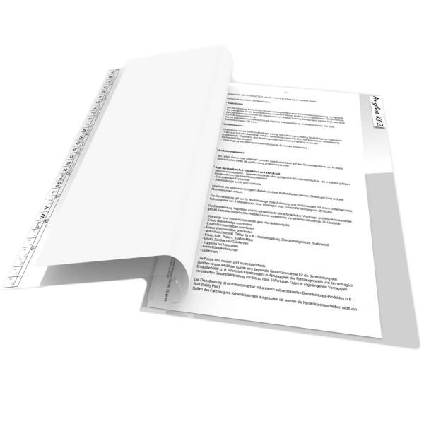Blättersicht-Mappe, 190 PP transparent