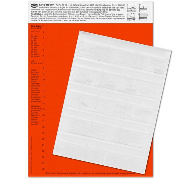 Strip-Tabs-Pck. rot 10x57,5mm