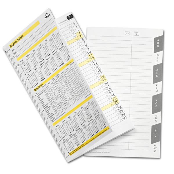 Kalender A6 für ZPM-Planer, zusteckbar
